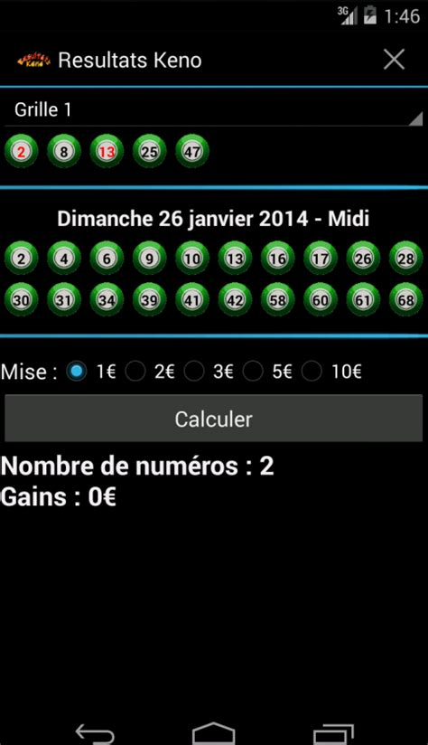 Keno A Vie Resultat by Resultats Keno Android Apps On Google Play