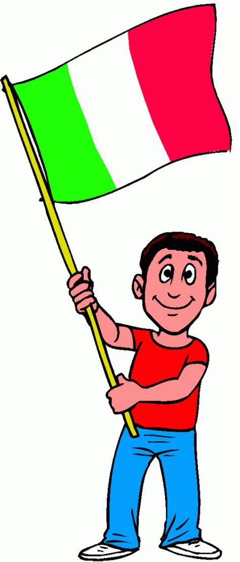junge mit italienischer flagge ausmalbild malvorlage