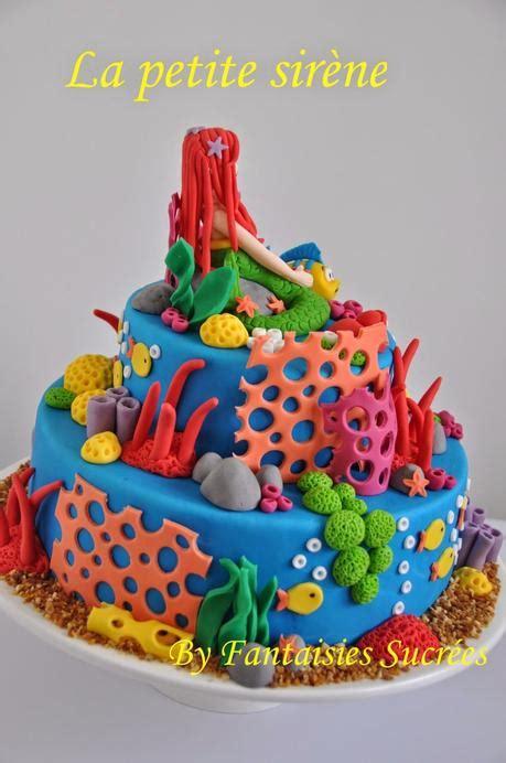 cuisine sans gluten ni lactose gâteau anniversaire 3d disney la sirène birthday