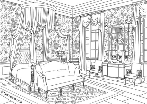 authentic architecture bedroom interior printable adult coloring pages  favoreads