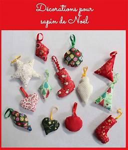 Tissu De Noel : sapin de noel en tissu 14 decorations pour sapin de noel ~ Preciouscoupons.com Idées de Décoration