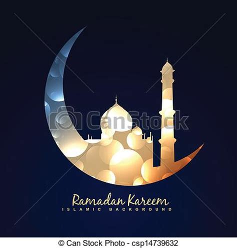 ramadan kareem background vector illustration  moon