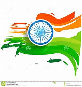Wave style indian flag stock vector. Illustration of color - 32420098