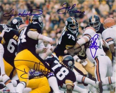 Steel Curtain Signed Photo, Autographed Nfl Photos