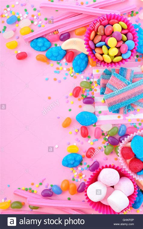 background  decorated borders  bright colorful candy