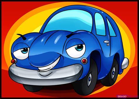 How To Draw A Cartoon Car, Step By Step, Cartoons