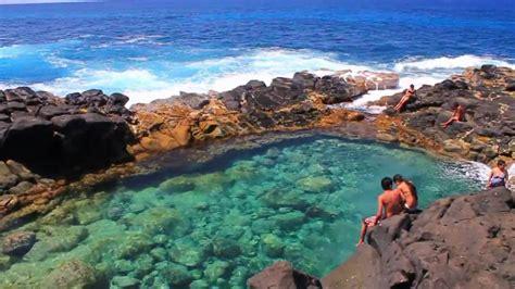 Queens Bath Kauai Youtube