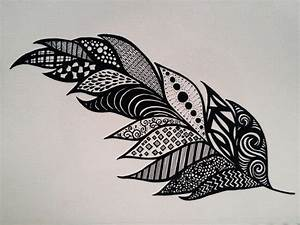 Feather - zentangle - SF | My marker art and doodles ...
