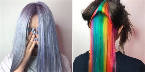 Color Hairstyles For Hair by 4 Rainbow Hair Color Trends You Need To For 2017
