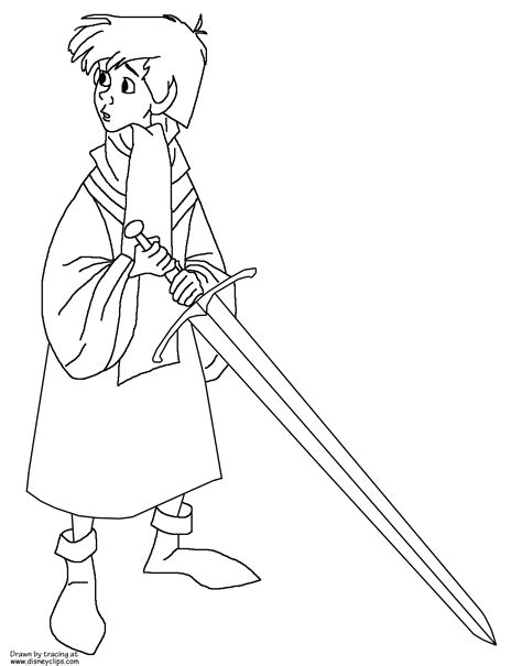 sword   stone coloring pages disneyclipscom