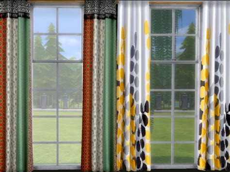 curtains sims  updates  ts cc downloads