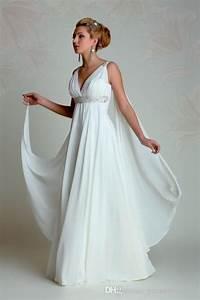 Discount Greek Goddess Wedding Dresses 2015 V Neck Empire ...