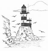 Lighthouse Coloring Pages Printable Adults Lighthouses Drawing Print Realistic Easy Clipart Cape Pencil Hatteras North Scene Carolina Clip Getdrawings Library sketch template