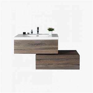 Meuble De Salle De Bain Gris : aquasun meuble salle de bain deux tiroirs d cal s gris ~ Preciouscoupons.com Idées de Décoration