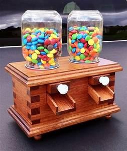 Double duty M&M Candy Dispenser - by woodshaver Tony C