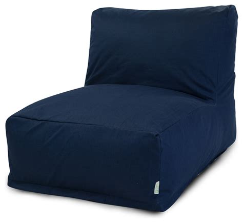outdoor navy blue solid bean bag chair lounger
