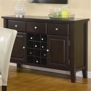 kitchen servers furniture coaster buffet style server in brown wood finish 102265