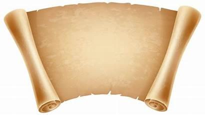 Papyrus Clipart Clip Decorative Scrolls Transparent Clipground