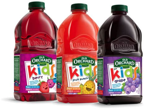 'old Orchard For Kids' Line Of Reduced Sugar Fruit Juice