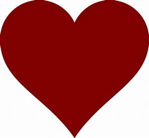 Maroon Simple Heart Clip Art at Clker.com - vector clip ...