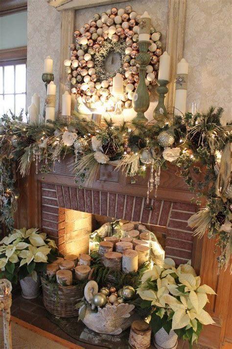 beautiful christmas mantel decor christmas decorations