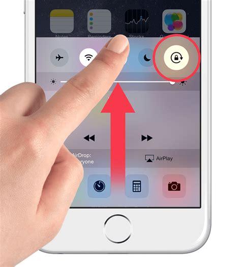 iphone rotation lock guide keep center ios 9 tapsmart