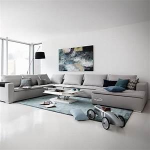 Grand Canapé D Angle : grand canap canap d 39 angle pour salon moderne c t maison ~ Teatrodelosmanantiales.com Idées de Décoration