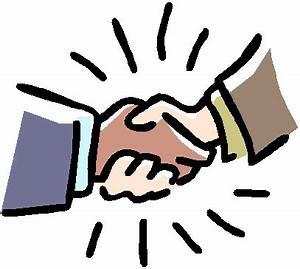 Handshake cartoon hand shake clipart image #25086