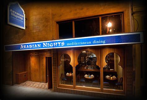 cuisine menu list arabian nights
