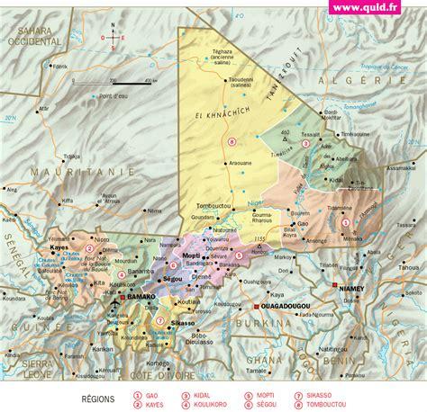 balladeaquatre - Mali - Carte détaillée / quid.fr