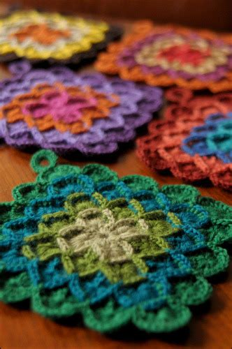 crochet potholders potholder on tumblr