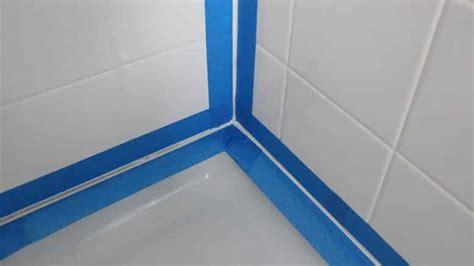 appliquer un joint silicone sur baignoire et lavabo bricolage facile