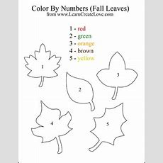 Color By Numbers Fall Leaves