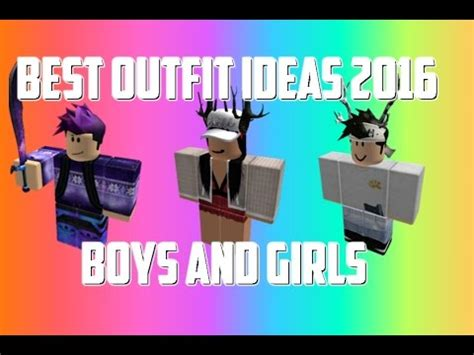 roblox  outfit ideas boys  girls youtube