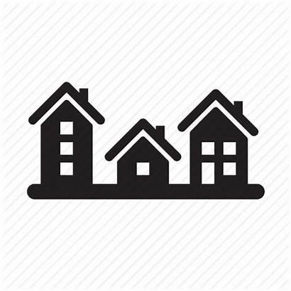Icon Neighborhood Houses Clipart Estate Housing Community