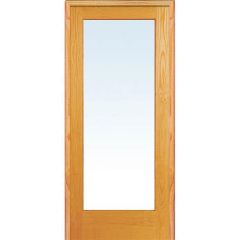 home depot wood doors interior milliken millwork 31 5 in x 81 75 in clear glass