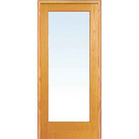 mmi door 36 in x 80 in left handed unfinished pine wood