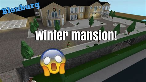Winter Mansion!!  Subscriber Tours (roblox Bloxburg