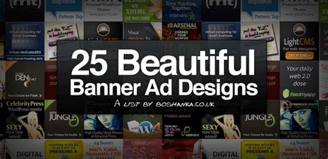 25 beautiful premium banner ads list of the top 25 banner ad psds