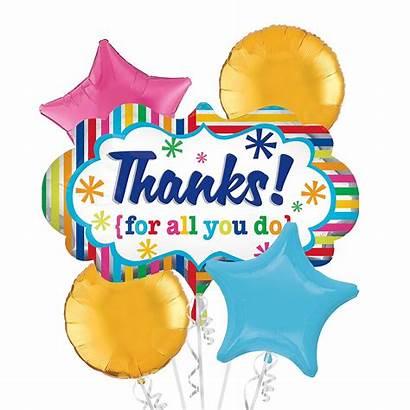 Thank Bouquet Balloon Balloons Party 5pc Partycity
