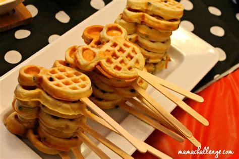 mickey mouse brunch party  waffle bar disneyside