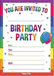 birthday invitations  envelopes  count kids