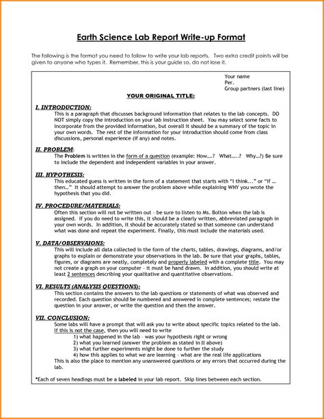 Lab Report Template Laboratory Report Exle Training4thefuture X Fc2