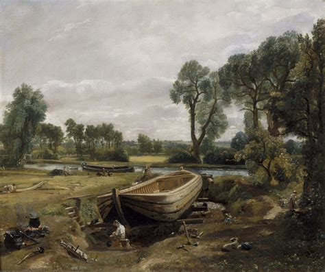 Boat R Near by Constable Boat Building Near Flatford Mill C 1815