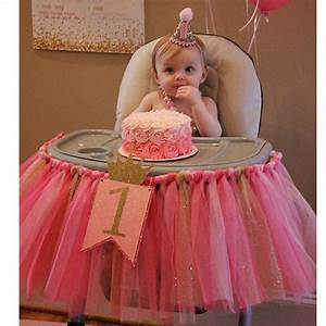 New arrival Pink And Gold High chair tutu Skirt for baby