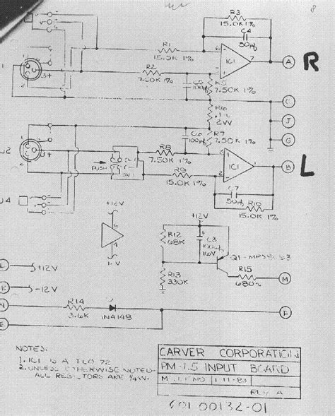 Carver Power Amplifier Schematic Service Manual