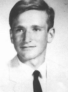 Williams in his high school yearbook photo in 1969