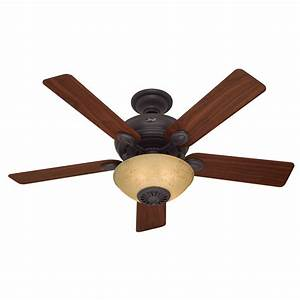 Hunter westover four seasons heater in new bronze downrod mount indoor ceiling fan with