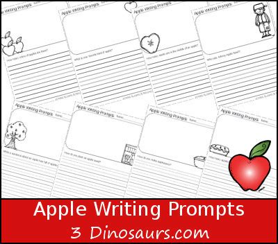 dinosaurs apple writing prompts