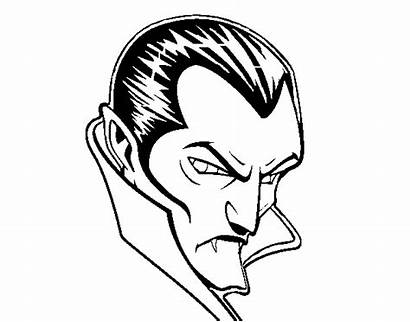 Dracula Coloring Pages Profile Vampires Halloween Colouring